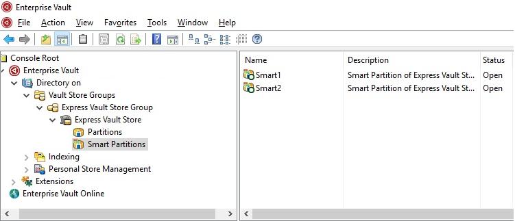 Enterprise Vault 12.3 Smart Partitions